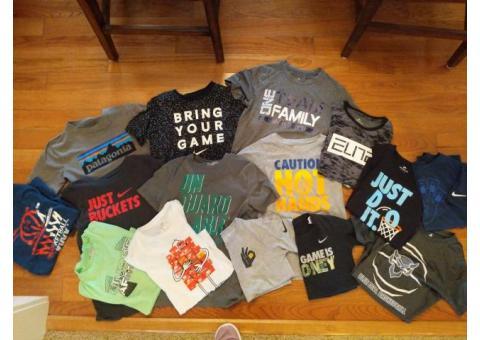 Nike, Under Armour, Elbert, Pantagonia t-shirts